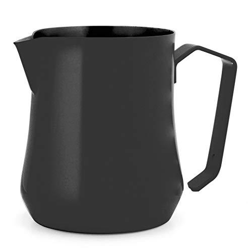 Tulip - Jarra de leche (acero inoxidable, 350 ml), color negro