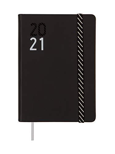 Finocam - Agenda Curso 2020-2021 M4-118 x 168 1 Día Página Natural Español, Croma Negro Diaria