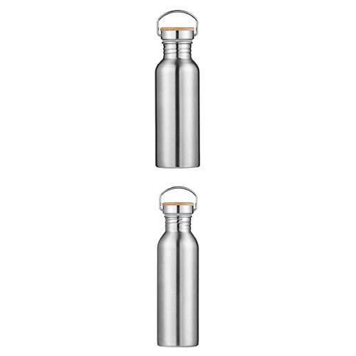 MagiDeal 2X Bouteille Isotherme en Acier 600ml 750ML à Double Paroi Etanch,Bouteille de Boisson pour Sport Camping Randonnée Water Bottle
