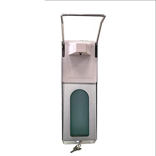 YCX 1000 Ml Edelstahlgriff Hygienischer Seifenspender,Mit Wandmontur Medizinischer Desinfektionsmittelspender Praxis Zuhause,Silber
