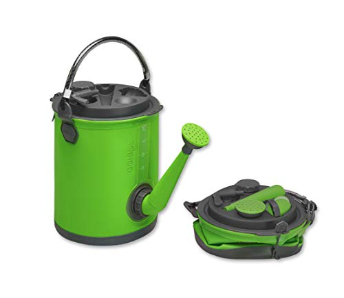 Colapz 3-in-1 Collapsible Water Container - Camping Water Carrier - Caravan Watering Can - Campervan bucket - Water Dispenser with Tap - Green
