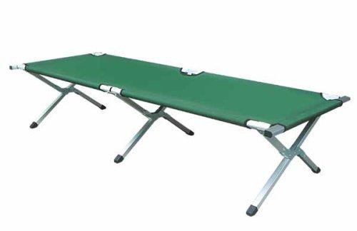 Kronenburg XXL Campingbett Feldbett 210 cm x 72 cm x 45 cm - Belastbarkeit bis 200 kg - in Grün