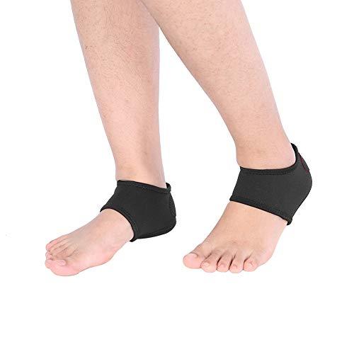 Protecciones de las mangas, talón y flecos en el talón con relieve para fascitis plantar y espolón calcáneo. Protectores de talón para aliviar el dolor del talón.