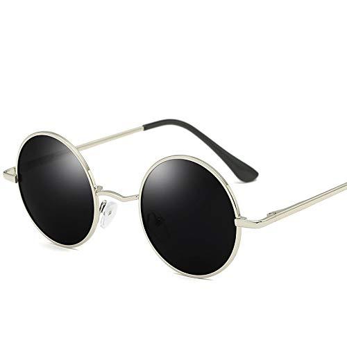 Gafas de Sol Sunglasses Gafas De Sol Polarizadas Redondas De Moda para Hombre, Diseño De Marca para Mujer,Gafas De Sol De AleaciónRetro,Gafas Uv400, Gafas C3Anti-UV