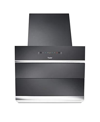 Prestige 60 cm 1100 m³/HR Auto-Clean Angular Kitchen Chimney (AKH 600 MSG, 2 Baffle Filters, Touch Control, Black)
