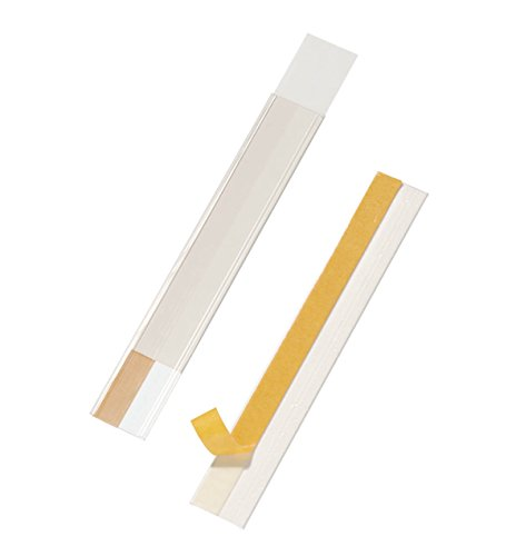 Durable 802519 Scannerschienen Scanfix inkl. Etiketten, 200 x 40 mm, transparent, 50 Stück