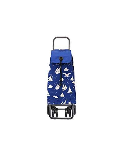 Rolser SAQ006 nylon, plegable, 47.5 x 40 x 107 cm, 43 L, 6 ruedas color azul Carro de compra