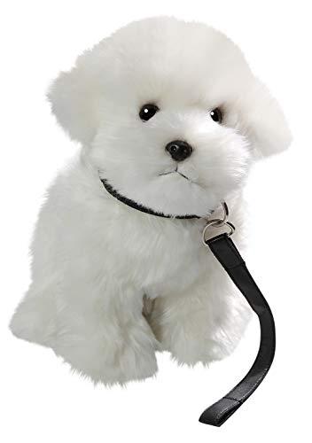 Carl Dick Malteser Hund sitzend mit Leine aus Plüsch ca. 26cm 3467