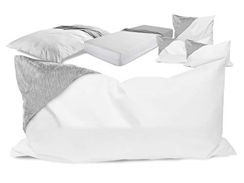 laken24 milbendichte Zwischenbezüge - Evolon für hohen Schlafkomfort 564.704, Kissenbezug 40 x 80 cm