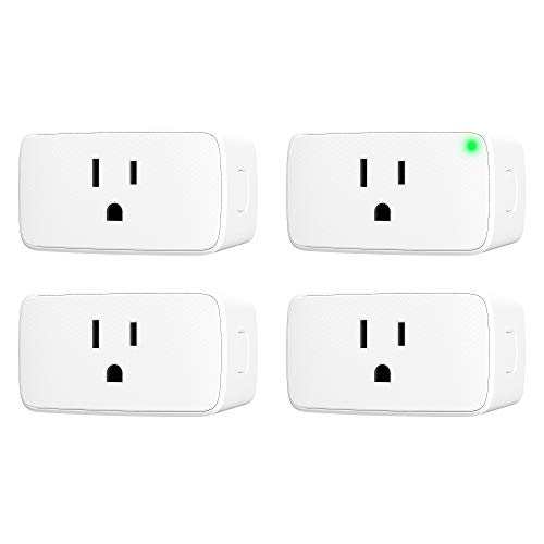 VOCOlinc Smart Plug Mini Siri WiFi Outlet Socket Works with HomeKit (iOS13+) Alexa Google Assistant Nest Hub Voice Control Remote Access Timer No Hub Required 15A 1800W 2.4GHz Smartbar (4PACK)