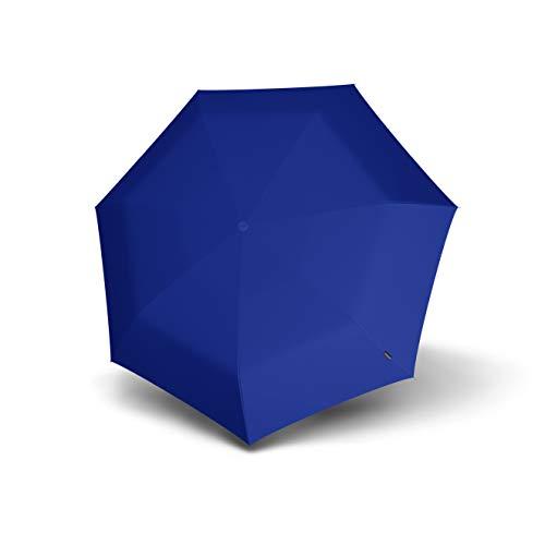 Knirps 806 Floyd Duomatic Regenschirm, kompakt, leicht, winddicht, 8 Streben, 86 cm, automatisches Öffnen/Schließen mit 95% UV-Schutz, blau (Blau) - 806 121