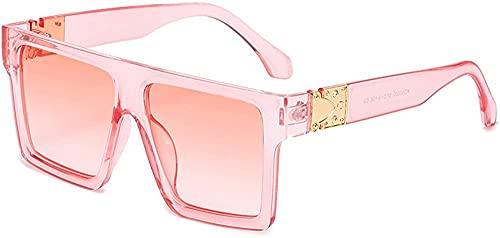 Gafas de sol unisex cuadradas para mujer, gafas de sol de lujo, de gran tamaño, Uv400, Color-7,