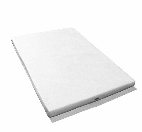 Colchón para cuna de viaje con espuma ignífuga con funda extraíble, lavable y transpirable (95 x 65 x 5 cm)
