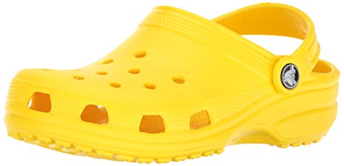 crocs Unisex-Kinder Classic Kids Clogs, Grün (Lemon 7C1), 27/28 EU