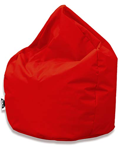 PH Patchhome Sitzsack Tropfenform - Rot für In & Outdoor XXL 420 Liter - mit Styropor Füllung in 25 versch. Farben und 3 Größen