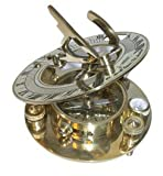 Gorgeous Brass Sundial Reproduction of an Antique, is Approx 3' Dia x 11/16' Thick Overall, and Actu