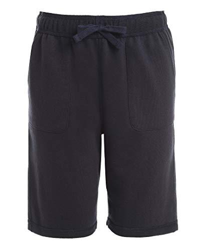 Chaps Boys' School Uniform Sensory-Friendly Soft Knit Short, Navy, X-Large (18/20),Big Boys