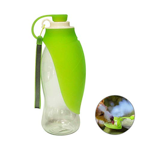 RoyalCare Tragbare Hundetrinkflasche für Haustiere, Reversible und Leichte Reise Trinkwasserspender für Hund, Welpen und Katzen, aus BPA-Freiem Lebensmittelechtem Silikon (Grün)
