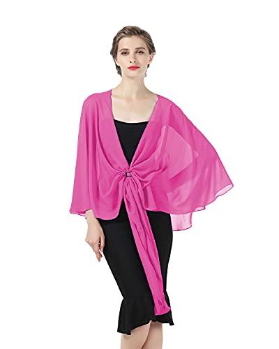BEAUTELICATE Scialle Stola Chiffon Sciarpe Donna Estivo Elegante Vintage per Cerimonia Sposa Festa 25 Colori