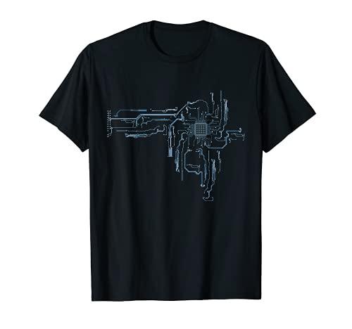 Placa de circuito de núcleo de CPU de ordenador de ingeniero eléctrico Camiseta