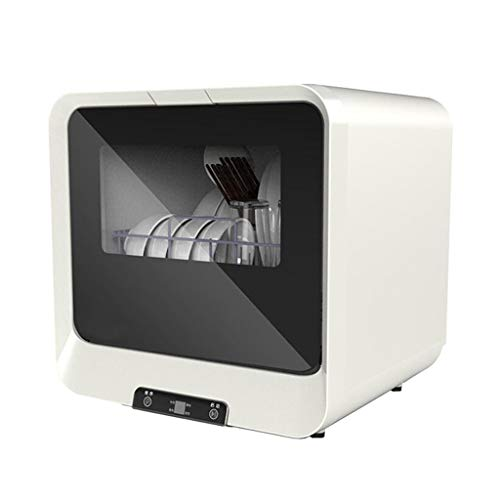 Garny Kompakter Tragbarer Aufsatzgeschirrspüler Mit LED-Anzeige, Vollautomatischer Tischgeschirrspüler, Luxuriösem Touchpanel, Keine Installation Erforderlich