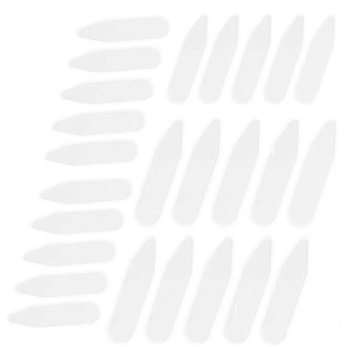 CINEE カラーキーパー プラスチック ワイシャツ 襟芯 カラーステイ 長さ2種類 100枚セット (6cmx50枚 7cmx50枚)