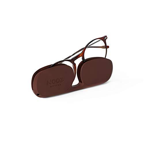 Nooz Lesebrille - Farbe Tortoise Korrektur +2.00 - Runde Form - Lupenbrille für Männer und Damen - Modell Cruz Sammlung Essential