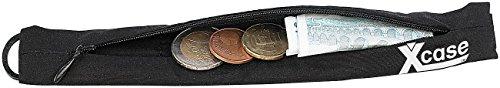 Xcase Gürtel Portemonnaie: Diebstahlsichere Geldgürtel Reise-Geldbörse, passend für alle Gürtel (Gürtelgeldbörse)