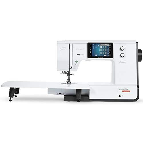 Bernette B77 - Máquina de coser (con pantalla táctil de colores y doble transporte, incluye 500 puntadas)