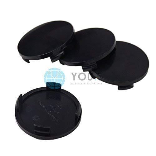 Chapeaux de Moyeux Enjoliveurs de Jantes Transporteur Voûtée Extérieur 60,0 mm Intérieur 55,0 mm (2 Pièce)