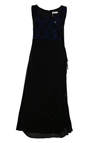 Sheego Abendkleid Ballkleid Kleid Damen Kurzgröße, Farbe:schwarz;Damengrößen:29