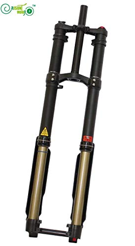 HYLH Unsere Exklusive Ebike Gabel mit dreifacher Krone für elektrische Luftfederung der Fahrrad-DNM-USD-8 elektronische Motorradteile