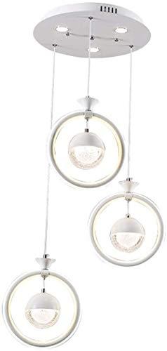 Bola redonda LED moderna 3 Fuente de luz Hierro blanco + Silicona Pasillo ajustable Dormitorio Sala de estar Restaurante Estudio Candelabro / Luz de techo / Lámpara
