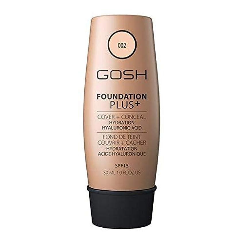スーダンプレビュー要塞[GOSH ] おやっ基礎プラス+アイボリー002 - Gosh Foundation Plus+ Ivory 002 [並行輸入品]