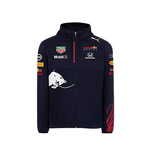 Red Bull Racing Official Teamline Zip Sudadera con Capucha, Niños Tamano 152 - Original Merchandise