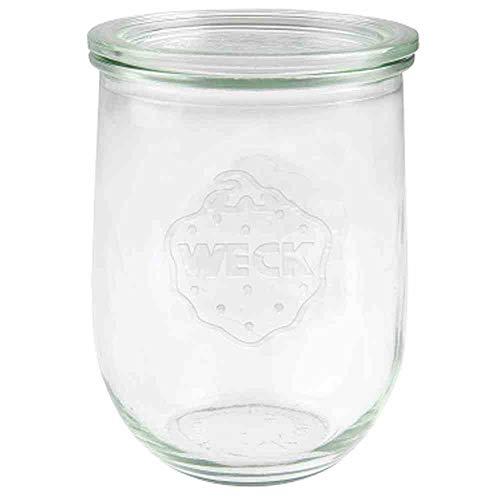 Weck Tulpen- Glas, Vasetto di Vetro Transparente, 1050 ml, set da 6