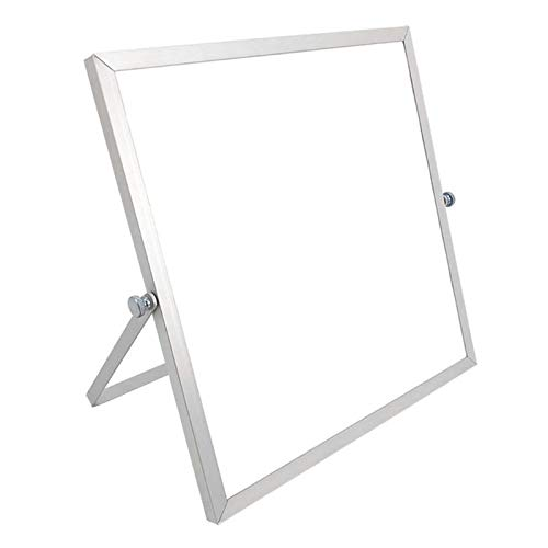 Pizarra blanca magnética borrable para escritorio de doble cara para tablero de mensajes, mini caballete (color: 25 x 25 cm)