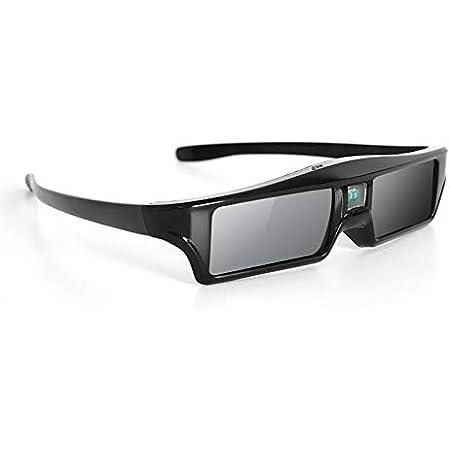 ZOYUBS G200 DLP Link方式 アクティブシャッター方式 3Dメガネ 充電式 96HZ-144HZ 技術 度付き眼鏡 Acer/Elephas BenQ/ViewSonic/Dell/Vivitek/Mitsubishi/Optama/Sharp/Nec/Epson/Sony/LG/Asus/Canon/Exquizonなど DLP プロジェクター 対応 (DLP Link方式)