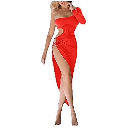 Abendkleider für Damen, PPangUDing Kleider Frauen Sexy Bandeau A-Linie Ärmellos Schulterfrei Einfarbig Figurbetont Cocktailkleid Partykleid Minikleid Sommerkleid Brautkleid Ballkleid