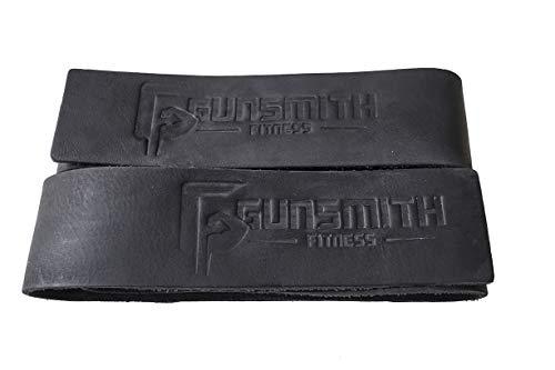 Gunsmith Fitness Premium Echt-Leder Gewichtheber-Bänder 2