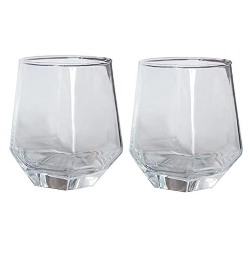 YDZB 2 vasos de whisky sin plomo, vasos transparentes de cristal, taza...