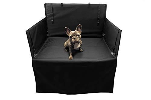 tuning-art KD100 Kofferraumschutz Hund Auto, Hundedecke mit Seitenschutz und Ladekantenschutz, Wasserdicht Pflegeleicht, einfache Montage, Größe:L