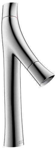 AXOR Starck 12012001 – llave para lavabo de baño, 2 manijas, 14 pulgadas de alto, chapado en cromo