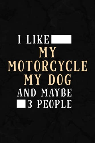 Inventory Log Book - I Like My Motorcycle My Dog And Maybe 3 People - Funny Biker Raglan Baseball Meme: Inventory Log For Small Business | Includes ... Planner & 110 Pages Log Sheets,Schedule