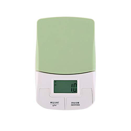 ZXZY Portátil 3kg / 0.1g Balanza de Cocina, electrónico Escala de Hornear, Mini Escala de Alimentos, HD Monitor Alta precisión (Size : Square)