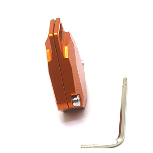 YOUPING Motocicleta CNC Estuche Clave de Aluminio Protección de Shell Decorar un Ajuste Universal para Duke 390 125 200 250 1190 1290 690 790 990 (Color : Orange)