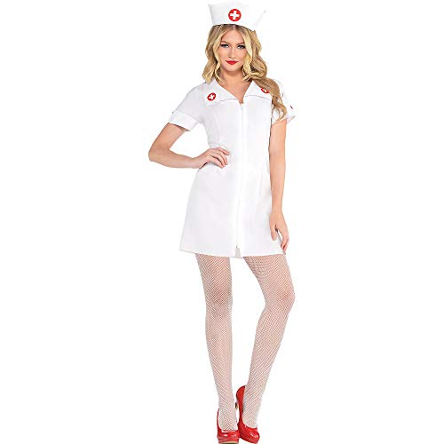 AMSCAN Hospital Honey Nurse Halloween Costume for Women, Small, with Included Accessories