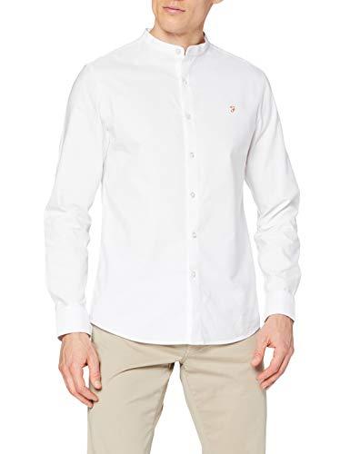 FARAH® Herren Brewer Grandad Hemd, weiß, L
