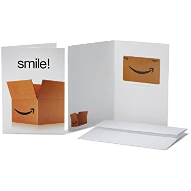 Amazon.com $95 Gift Card in a Greeting Card (Smile! Design)