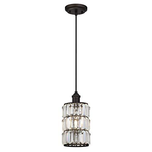 Westinghouse Lighting One-Light Indoor Pendant Lámpara de Techo, Bronce aceitado